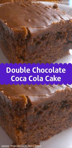 Double Chocolate Coca Cola Cake Recipe Double Chocolate Coca Cola Cake Recipe – I rate this cake a it is moist, chocolate, melt in your mouth cake Double Chocolate Coca Cola Cake Recipe, Chocolate Coke Cake, Easy Chocolate Cake Recipe, Food Cakes, Cupcake Cakes, Cupcakes, Köstliche Desserts, Dessert Recipes, Cola Recipe