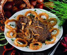 Hagymás marhapecsenye – Receptletöltés Cooking Recipes, Beef, Foods, Drinks, Meat, Food Food, Drinking, Food Items, Beverages