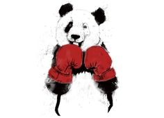Check out the design The Winner: Guys Pima Tee by Balazs Solti available on on Threadless Geek Shirts, Cool T Shirts, Muay Thai, Volleyball Wallpaper, Kick Boxing Girl, Panda Wallpapers, Batman Artwork, Panda Art, Mundo Animal