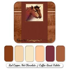 Country and western wedding line with horses on an ivory wood panel background - color palette with ivory, caramel and honey gold colors