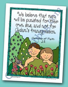 Repentance - Choices - Accountability: Scripture Poster, Articles of Faith LDS Lesson Activity for: Primary, Youth, and Family Home Evening - Gospel Grab Bag