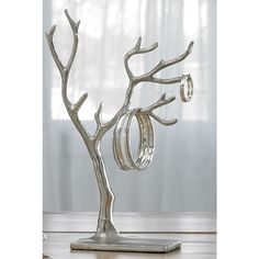 KINDWER Multi-branch Tree of Life Jewelry Holder (Multi Branch Tree of Life Jewelry Holder), Silver
