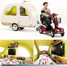 Look.... it's a camper for a smart car.