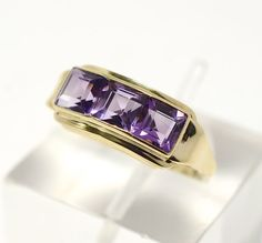 Art Deco Amethyst 14K Green Gold Cocktail by RubyInTheDustVintage  #artdeco #amethystjewelry #vintagewedding