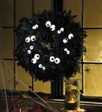 grappige halloween krans