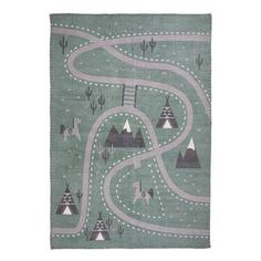 Tapis Little Western en coton x 140 cm) Nattiot - Dröm Design Weaving For Kids, Hand Weaving, Westerns, Maurer, Black White Rug, Childrens Rugs, Orange Rugs, Room Carpet, Machine Made Rugs