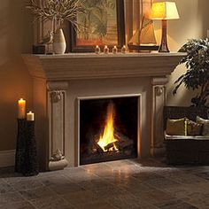 Cast Stone Fireplace Mantel