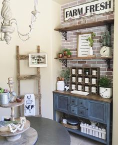 """528 Likes, 18 Comments - Jaci Hodge (@shabbydesertnest) on Instagram: """"Missing home so much. Two more days and I get to squeeze my babies. #farmhouse #breakfastnook…"""""""