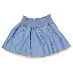 Shyanne® Girl's Lace and Denim Skirt