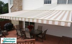 Your next outdoor shade will be your best one if your next outdoor shade is from Patio Shades Retractable Awnings. We offer the finest retractable awnings. Retractable Awning Patio, Retractable Canopy, Outdoor Shade, Patio Shade, Home Decor Furniture, Wall Mount, Shed, Places To Visit, Deck