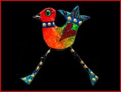 Funky chicken brooch by papiermacheartworks on Etsy, £19.50