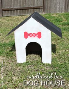 How To Make A Cardboard Box Dog House At My Home Remodeling Ideas