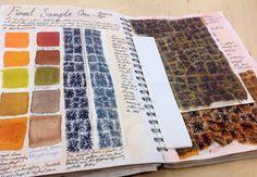 Final samples documented in sketchbook CNC