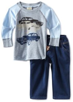 c5cbe57e9ce Charlie Rocket Baby-boys Infant Triple Car Tee  Plaid Pant