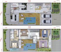 L en el diseño de planta con espacio gourmet. Plano para terreno 10x25