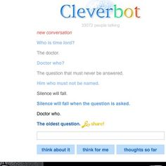 Had some fun convos with cleverbot