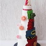 Avengers His and Hers Wedding cake - When Geeks Wed Comic Book Wedding, Nerdy, Wedding Cakes, Avengers, Geek Stuff, Wedding Ideas, Christmas Ornaments, Holiday Decor, Blog