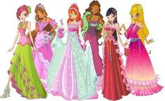 Winx Club Dress Up   here are the winx girls all dressed up to party sadly it doesn t have ...