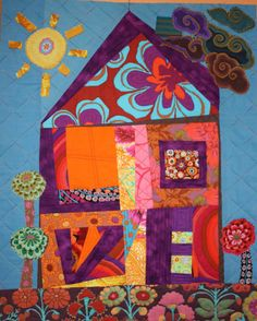 Having Quilty fun 15 minutes at a time. Inspired works by using Victoria's 15 Minutes of Play process. Break out of the box, try new things, and see where 15 minutes of play can lead you. Please email me your PLAY works to help inspire others! House Quilt Patterns, House Quilt Block, House Quilts, Quilt Blocks, Block Patterns, Scrappy Quilts, Mini Quilts, Baby Quilts, Patch Quilt