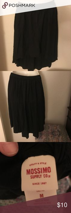 Mossimo High low skirt Mini/midi. Needs ironing but super cute good condition no flaws!    Tags: Hollister. Free People. Boho. Gypsy. Festival. Hippy. Beach. PINK. Banana Republic. Buckle. H&M. American Rag. Pac Sun. Forever 21. RipCurl. Levi's. Vintage. Fossil. Victoria's Secret. Urban outfitters. Please Check out my adorable other listings! Happy Shopping! Mossimo Supply Co. Skirts High Low