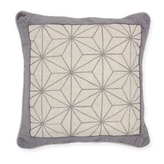 A touch of sparkle! Our lovely pair of 18 x 18 throw pillows feature a 100% linen silver sparkle  embroidered front with a velvet border.