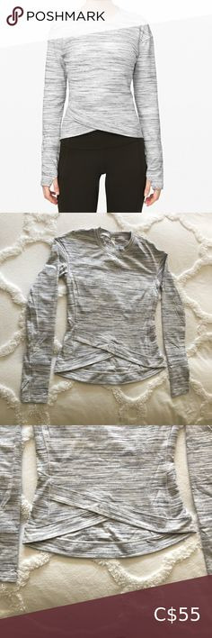 Lululemon Women's Close to Crossing Long Sleeve New condition, worn once. Very clean and pretty much brand new. Very comfortable and warm. lululemon athletica Tops Tees - Long Sleeve Super Stretch Jeans, High Neck Top, Grey Zip Ups, Zip Up Sweater, Nice Tops, Lululemon Athletica, Long Sleeve Tops, Warm, Tees