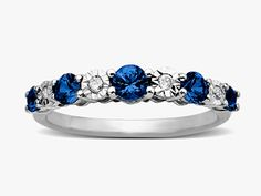 3/4 ct Sapphire Ring with Diamonds in 10K White Gold from Jewelry.com $129.00 #Jewelry.com