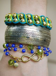 """Quiet Lion Creations by Allison Beth Cooling: """"Daintyfied"""" Project 2- Infinity Wrap Bracelet"""