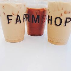 #FarmshopLA Better in threes. Get your caffeine fix at #Farmshop! Photo credit: LF Montana