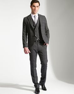 mens professional dress - a less patterned fabric may be more acceptable in the typical office.