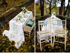 Love the idea of mismatched chairs at an outdoor wedding reception...very 'southern vintage'!
