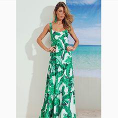 DUO WE LOVE: Print incrível + 'long dress'😍😍😍#reginasalomao #SS17 #TropicalVibesRS