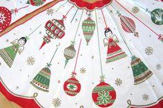 Mid Century Vintage Christmas Tree Skirt