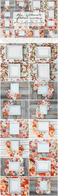 THE ULTIMATE FLORAL MOCK UP BUNDLE by WeLivedHappilyEverAfter on @creativemarket