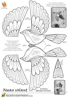22 Feb Creative papercraft ideas for your free pull-out patterned papers in Mollie Makes magazine. Share using May 2017 … 10 Coolest and amazing paper craft ideas for kids Paper Birds, Fabric Birds, Coloring Books, Coloring Pages, Paper Art, Paper Crafts, Foam Crafts, Fabric Crafts, Bird Template