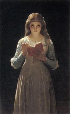 'Pause for Thought' by Pierre-Auguste-Cot (1837-1883)