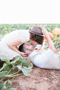 So sweet!    Pumpkin Patch Wedding Photo Shoot from Mallory Morgan Photography  Board #114561