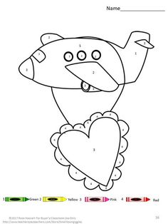 Valentines Day Color By Number Coloring Pages This Packet Works Well For Preschool Kindergarten ESL