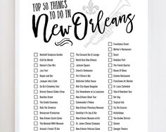 The New Orleans Bucket List: 50 things you must experience in New Orleans, Louisiana.  CUSTOMIZE: The EGGPLANT background color in the above print is customizable at no charge. Simply choose the color you would like in the dropdown menu before you Add to Cart. Please reference the color selection chart above for color names. Please note that colors vary from monitor to monitor. -----------------------------------------------------------------------------------------------  Please visit my…