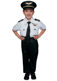 You can get your own black pants, tie, and white shirt. Just buy the hat and get some wings from dad. All that will be missing is the shoulder things. Smallest size 3T :(
