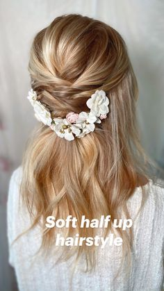Cute Hairstyles For Medium Hair, Wedding Hairstyles For Long Hair, Wedding Hair And Makeup, Bride Hairstyles, Wedding Hair Accessories, Homecoming Hairstyles, Hair Wedding, Bridesmaid Hairstyles, Protective Hairstyles