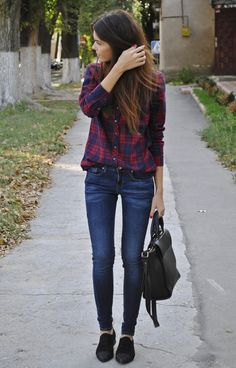 Perfect school/ college outfit!!  , Pull    Bear in Shirt / Blouses, Mango in Jeans, Massimo Dutti in Oxfords / Derbies
