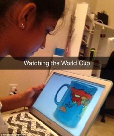 One user showed off their word play with a photo of a geographical map, which they nicknamed the 'World Cup'