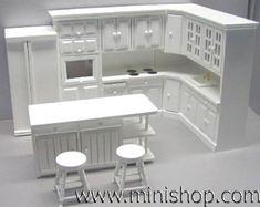 White Contemporary Kitchen, 6 piece $99.99