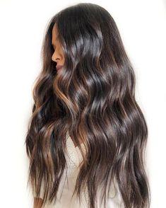Brown Hair Balayage, Hair Highlights, Color Highlights, Brunette Hair, Long Brunette, Gorgeous Hair, Cool Hairstyles, Braided Hairstyles, Hairstyles Videos