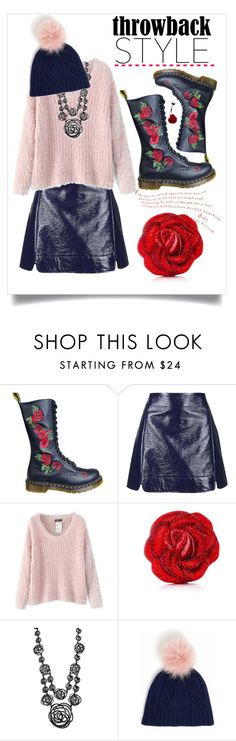 """""""Throwback Style: Dr. Martens"""" by judysingley-polyvore ❤ liked on Polyvore featuring Dr. Martens, Topshop, Chicnova Fashion, Judith Leiber, Oscar de la Renta and throwbackstyle"""
