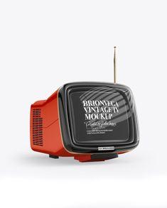 Brionvega Vintage Tv Mockup - Half Side View Preview