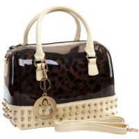 MG Collection MENTHA 2 in 1 Gothic Studded Doctor Tote Style Candy Handbag $39.99 #MGCollection