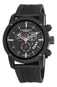 Burberry Men's Endurance Black Chronograph Dial Watch Burberry is a British luxury fashion house, manufacturing clothing, fragrance, and fashion Burberry Watch, Burberry Men, Bulova, Titanium Watches, Rubber Watches, Online Watch Store, Black Stainless Steel, Black Rubber, Watches For Men