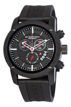 Burberry Men's BU7701 Endurance Black Chronograph Dial Watch